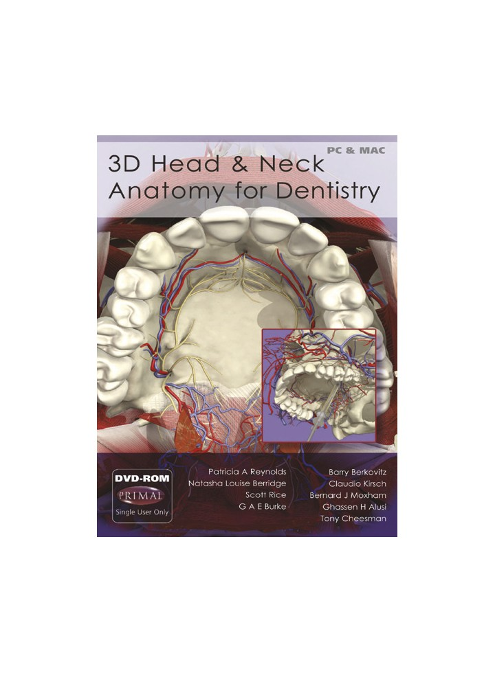 3D Head & Neck Anatomy for Dentistry (DVD-ROM)