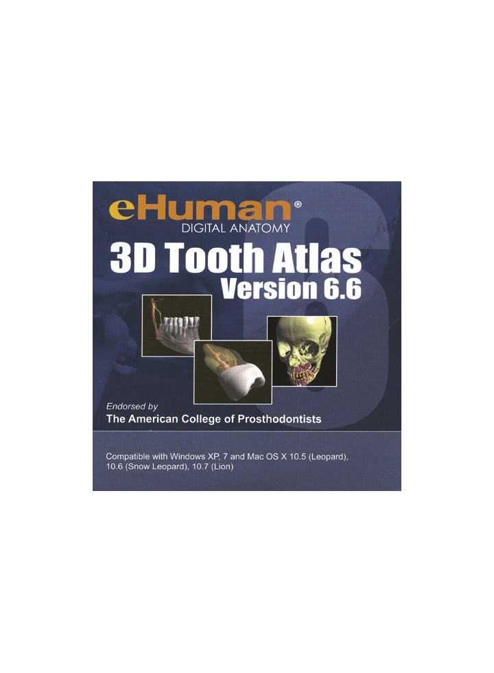 Dental Anatomy 3d Interactive Tooth Atlas Version 66 Dvd Rom
